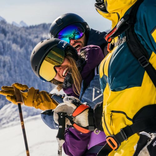 Hiver Ski Les Gets Amis