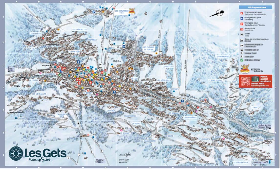 plan de la station en hiver