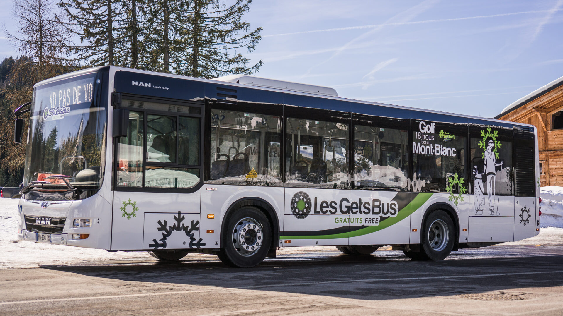 Free shuttles Les Gets Bus Winter