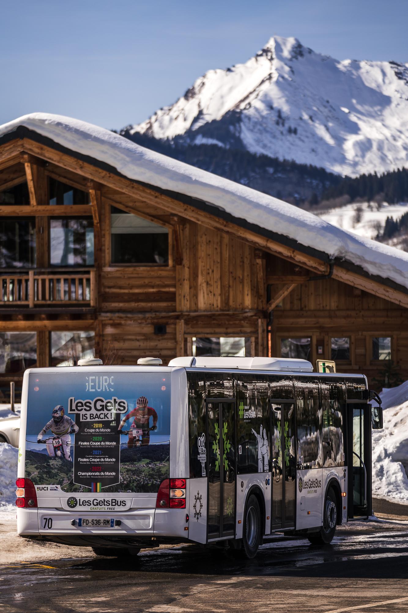 Bus gratuit des Gets en hiver
