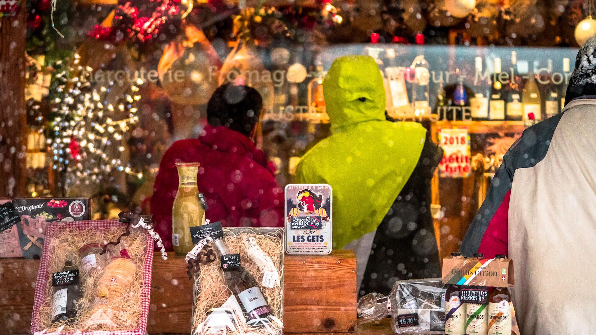 Vitrine boutique produits du terroir hiver