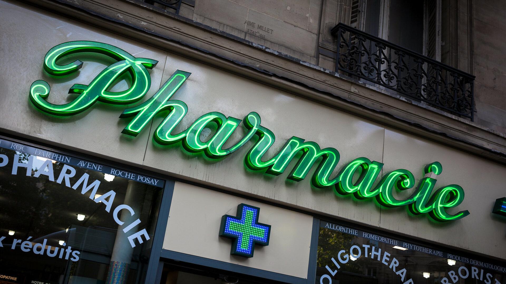 façade d'une pharmacie