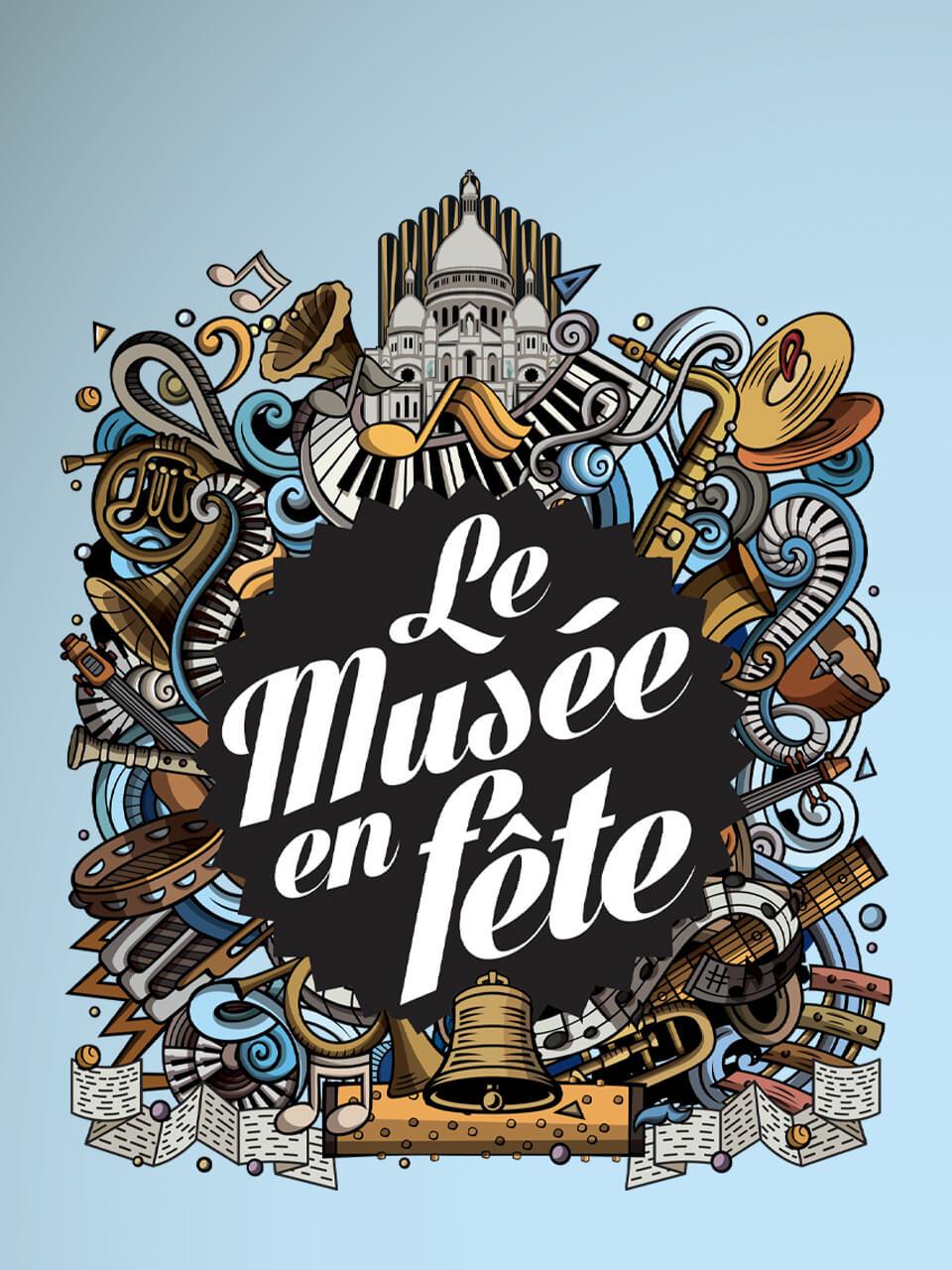 Affiche 2020 du musée de la musique mécanique en fête aux Gets