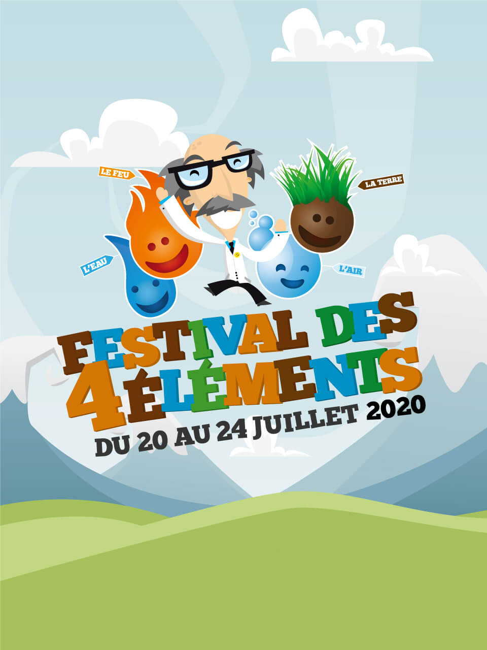 Affiche 2020 Festival des 4 éléments