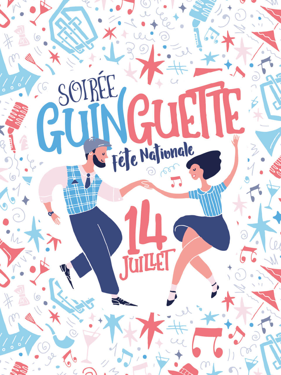 Affiche 2020 soirée guinguette 14 juillet